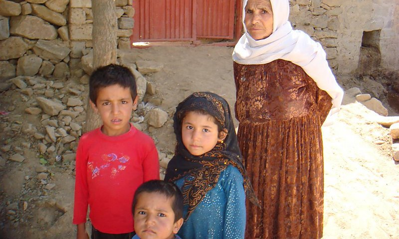 Rabea with grand mother and brother and sister
